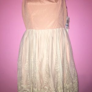 Peach Chord Lace Summer Dress Size 5 BNWT